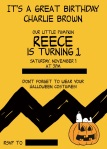 Reece 1st b-day invite